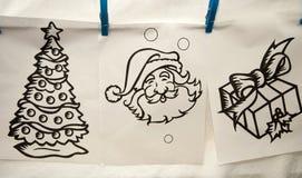 Gráficos de la Navidad fotos de archivo libres de regalías