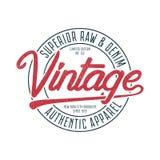 Gráficos de la tipografía del vintage para la camiseta Impresión original retra de la camiseta para tema de Nueva York, Brooklyn  ilustración del vector