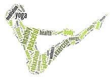 Gráficos de la yoga Foto de archivo libre de regalías