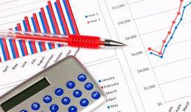 Gráficos de las finanzas Imagen de archivo libre de regalías