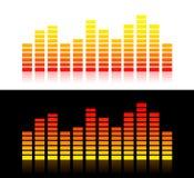 Gráficos de los sonidos (variante anaranjada) Fotos de archivo libres de regalías