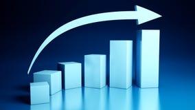 Gráficos de negócio imagens de stock