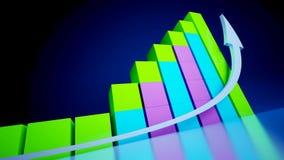 Gráficos de negócio Fotos de Stock Royalty Free