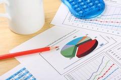 Gráficos de negócio Imagem de Stock Royalty Free