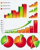 Gráficos de negócio ilustração royalty free