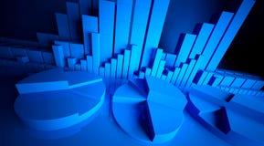 Gráficos de negócio Foto de Stock
