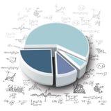 Gráficos de negócio Fotografia de Stock