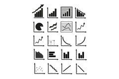 Gráficos de negócio Fotografia de Stock Royalty Free