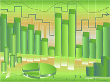 Gráficos de negócio Ilustração do Vetor