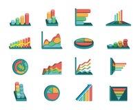 gráficos de negócio ajustados Imagens de Stock Royalty Free