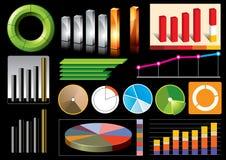 Gráficos de negócio do vetor Imagem de Stock Royalty Free