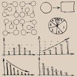 Gráficos de negócio do vetor de Infographic Foto de Stock Royalty Free