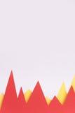 Gráficos de negócio isolados sobre o fundo branco Fotografia de Stock