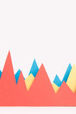 Gráficos de negócio sobre o fundo branco Fotos de Stock Royalty Free