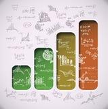 Gráficos de negocio Imagen de archivo