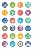 Gráficos de negocio y iconos de las cartas - Dot Series Imagen de archivo