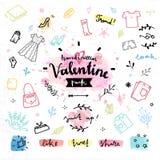 Gráficos de vetor do dia de Valentim dos presentes da compra Fotografia de Stock Royalty Free