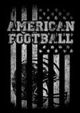 Gráficos de vetor dos gráficos da camisa do time do colégio t do futebol americano e t Fotografia de Stock Royalty Free