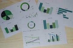 gráficos del análisis de negocio imágenes de archivo libres de regalías