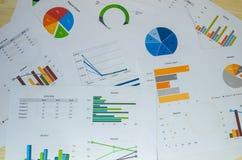 gráficos del análisis de negocio imagenes de archivo