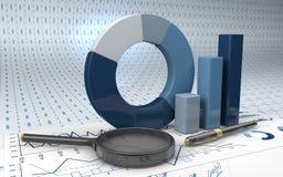 Gráficos del análisis financiero Imágenes de archivo libres de regalías
