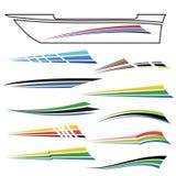 Gráficos del barco imagen de archivo