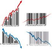 Gráficos del código de barras Fotos de archivo libres de regalías