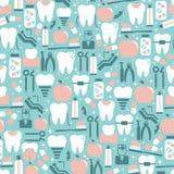 Gráficos del cuidado dental en fondo azul stock de ilustración