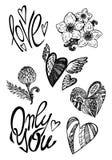 Gráficos del día de tarjetas del día de San Valentín libre illustration