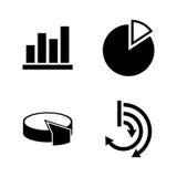 Gráficos del diagrama Iconos relacionados simples del vector Foto de archivo