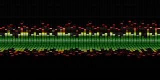 Gráficos del equalizador de la música imágenes de archivo libres de regalías