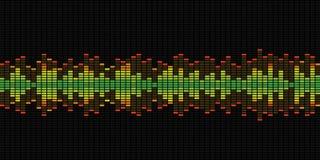 Gráficos del equalizador de la música fotos de archivo
