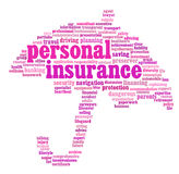 Gráficos del Info-texto del seguro Imagen de archivo
