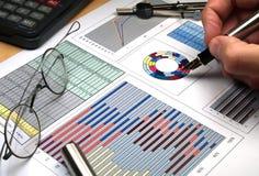 Gráficos del mercado Imagen de archivo libre de regalías