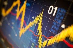 Gráficos del mercado de acción Imagen de archivo