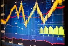 Gráficos del mercado de acción Imágenes de archivo libres de regalías