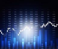 Gráficos del mercado de acción Imagenes de archivo