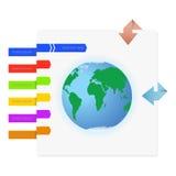 Gráficos del mundo y de la información ilustración del vector