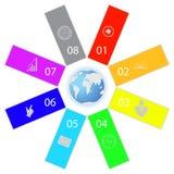Gráficos del mundo y de la información stock de ilustración