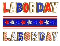 Gráficos del texto del Día del Trabajo stock de ilustración