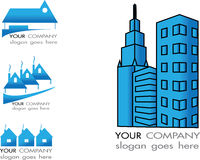 Gráficos del vector del logotipo de Real Estate imágenes de archivo libres de regalías