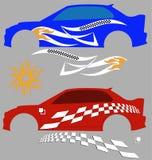 Gráficos del vehículo, raya: Vinilo listo Fotos de archivo