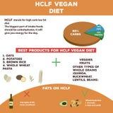 Gráficos dietéticos da informação da dieta do vegetariano do carburador alto imagem de stock royalty free
