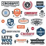 Gráficos do atletismo de Crossfit ilustração royalty free