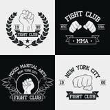Gráficos do clube da luta para o grupo do t-shirt New York City, Muttahida Majlis-E-Amal, artes marciais misturadas A tipografia  ilustração royalty free