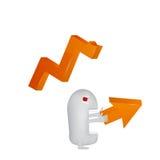Gráficos do contratorpedeiro Foto de Stock Royalty Free
