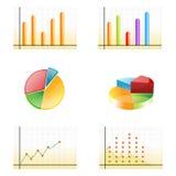 Gráficos do crescimento do negócio ilustração do vetor