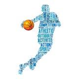 Gráficos do informação-texto do basquetebol Fotografia de Stock