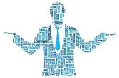 Gráficos do informação-texto do homem de negócios Imagens de Stock