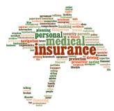 Gráficos do informação-texto do seguro Imagens de Stock Royalty Free
